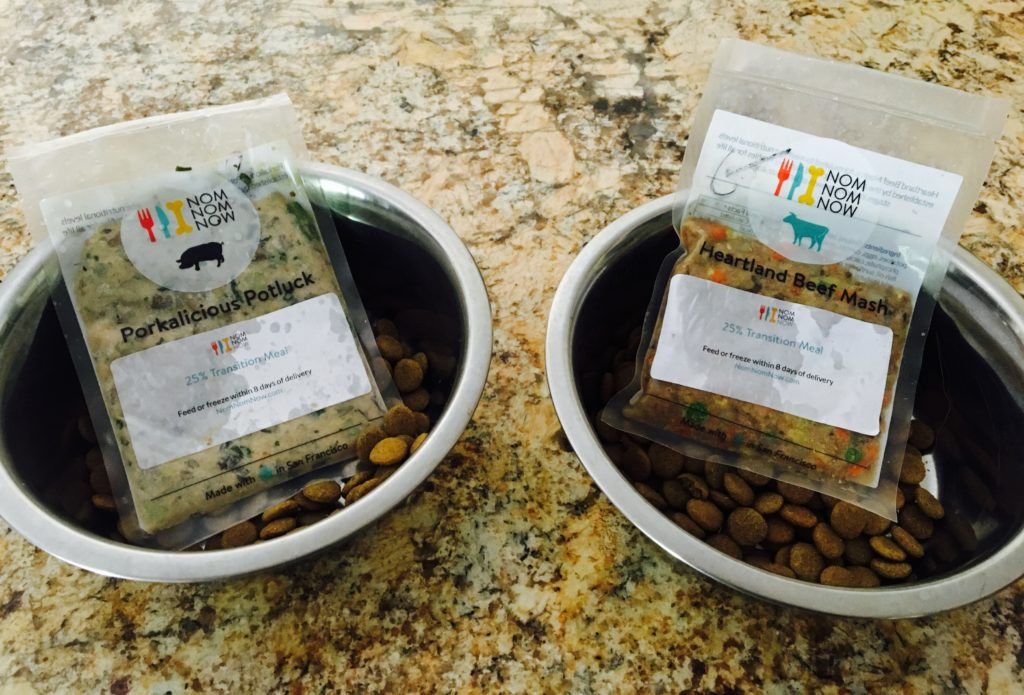 Homemade dog food from Nom Nom Now
