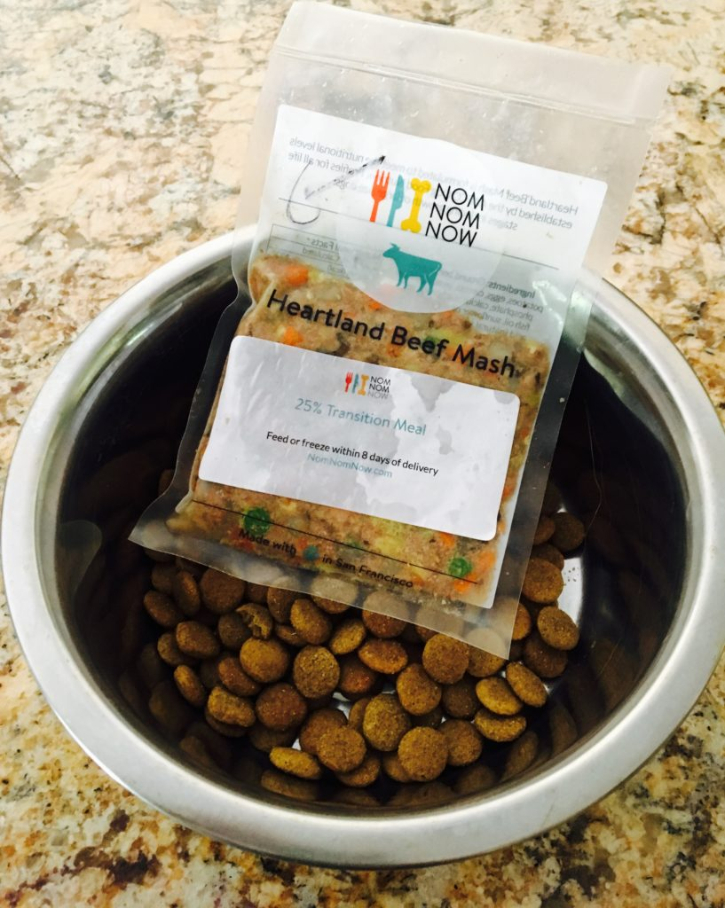 Homemade dog food from NomNomNow